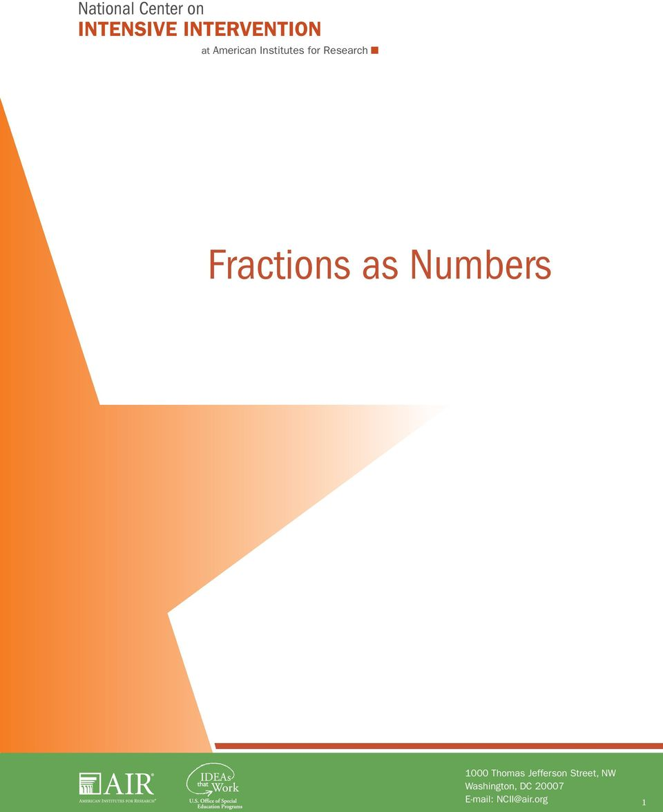 Fractions as Numbers 000 Thomas Jefferson