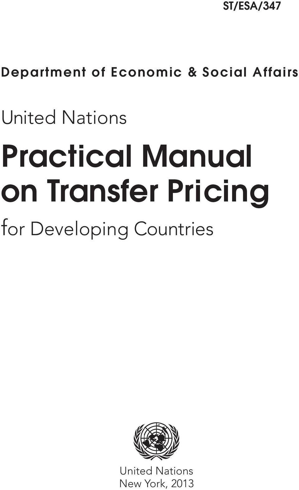 Manual on Transfer Pricing for
