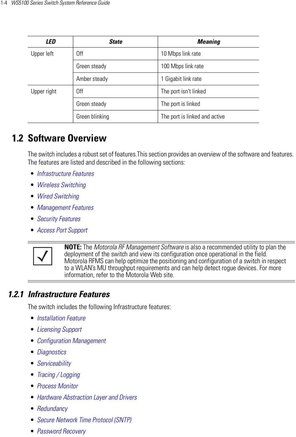 this section provides an overview of the software and features.