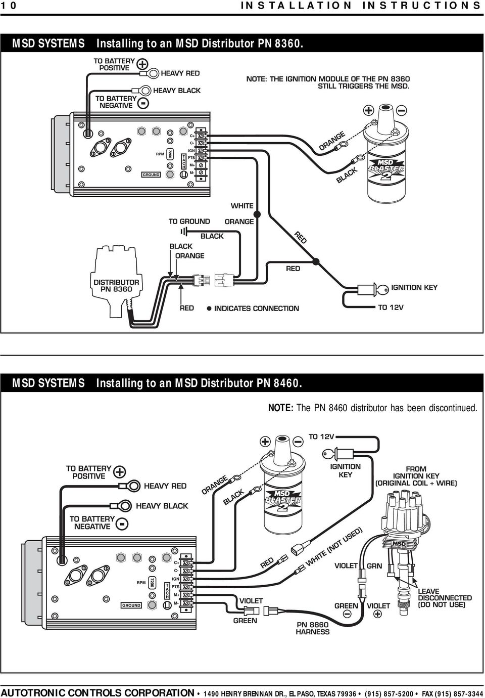 msd ignition wiring diagram two step msd 8460 wiring diagram msd 7al-2 ignition pn 7220, 7224, 7226, pdf