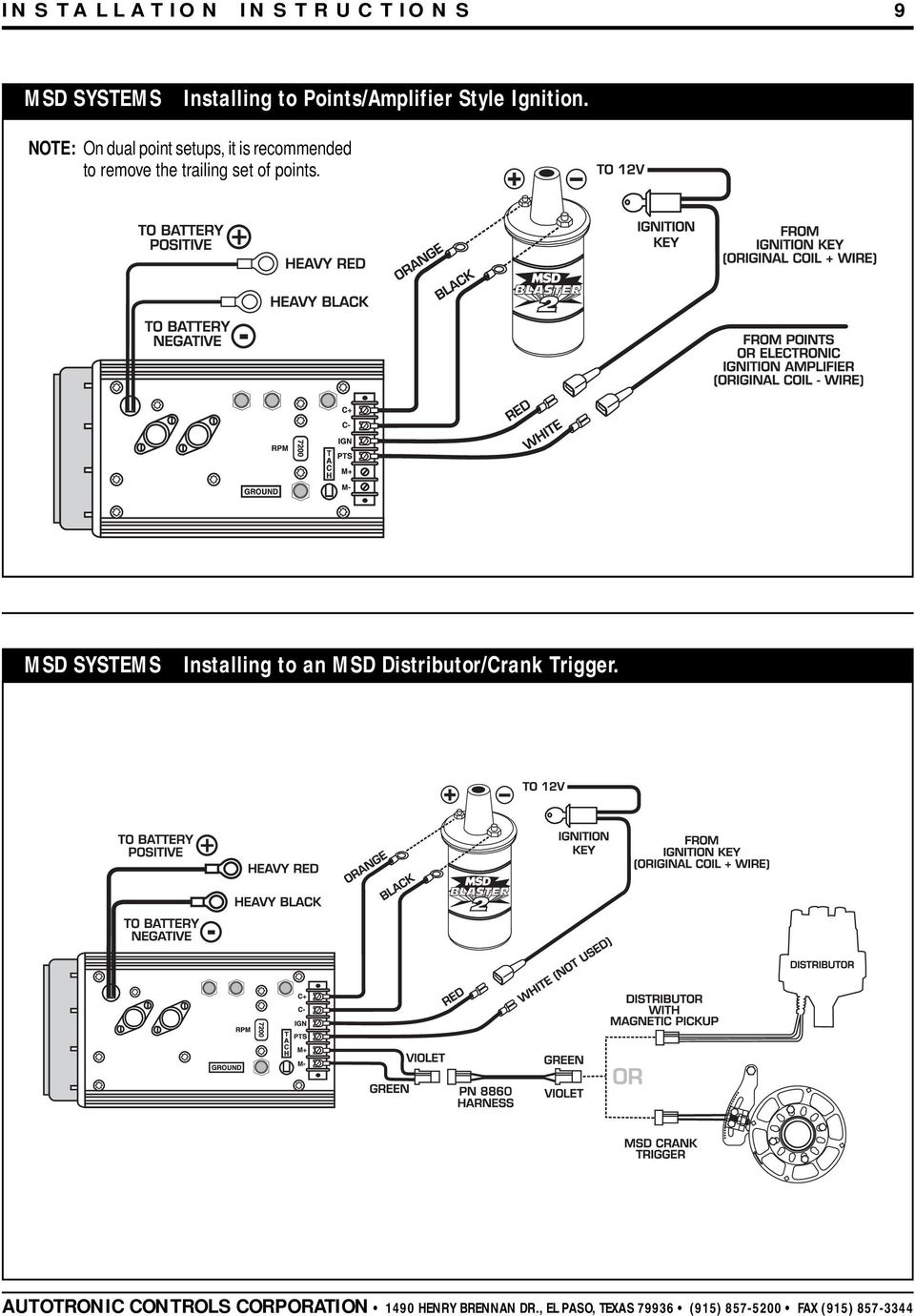 msd 7al-2 ignition pn 7220, 7224, 7226, pdf msd 8460 wiring diagram
