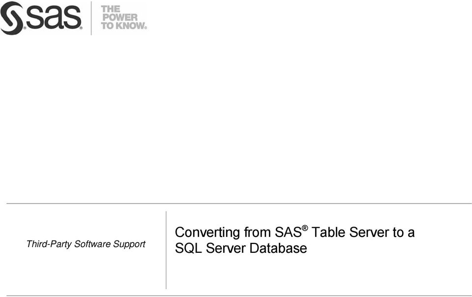 from SAS Table Server