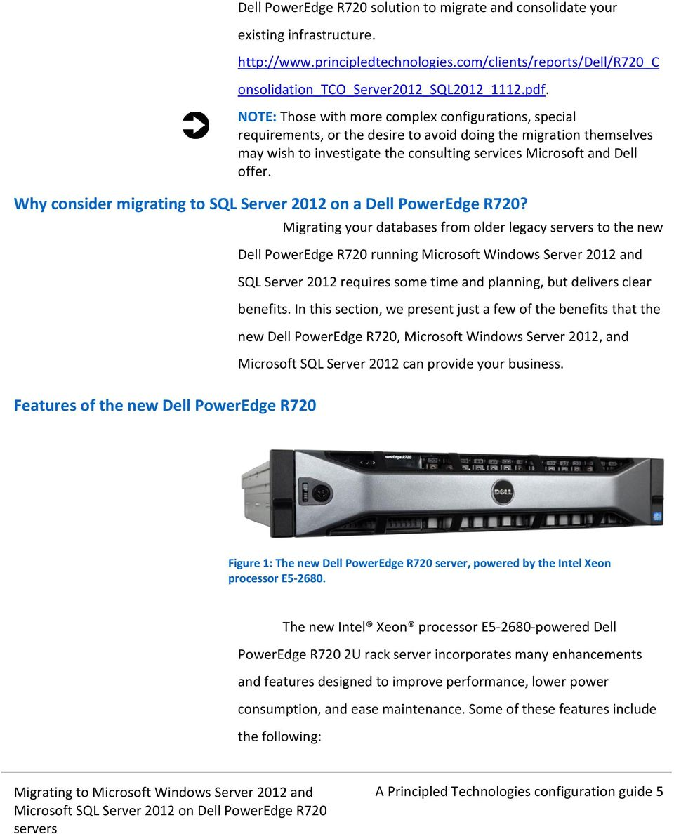 Why consider migrating to SQL Server 2012 on a Dell PowerEdge R720?