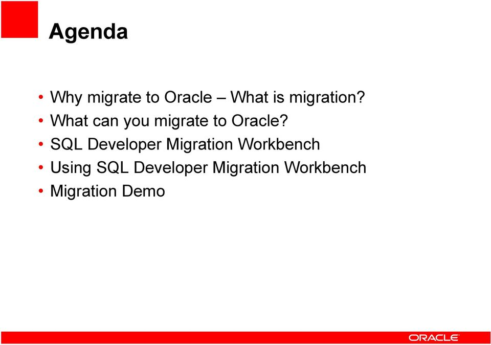 SQL Developer Migration Workbench Using
