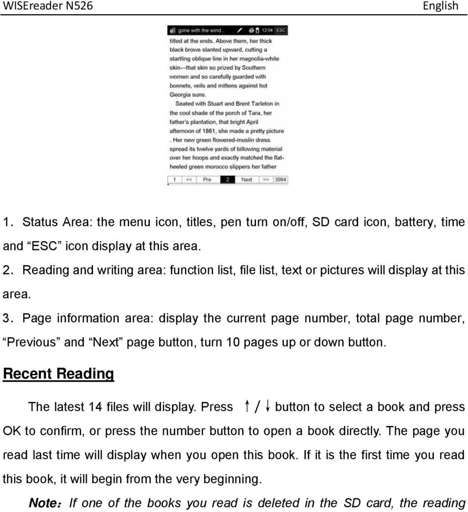 Page information area: display the current page number, total page number, Previous and Next page button, turn 10 pages up or down button.