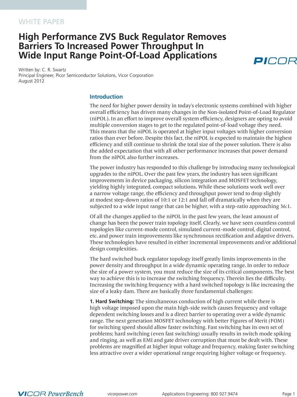 moves Barriers To Increased Power Throughput In Wide Input Ra