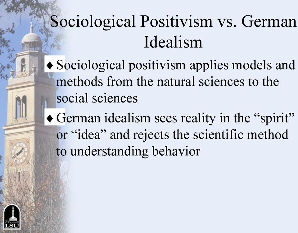 methods from the natural sciences to the social sciences German