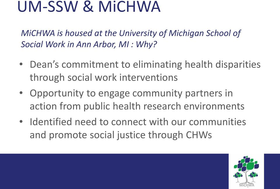 Dean s commitment to eliminating health disparities through social work interventions