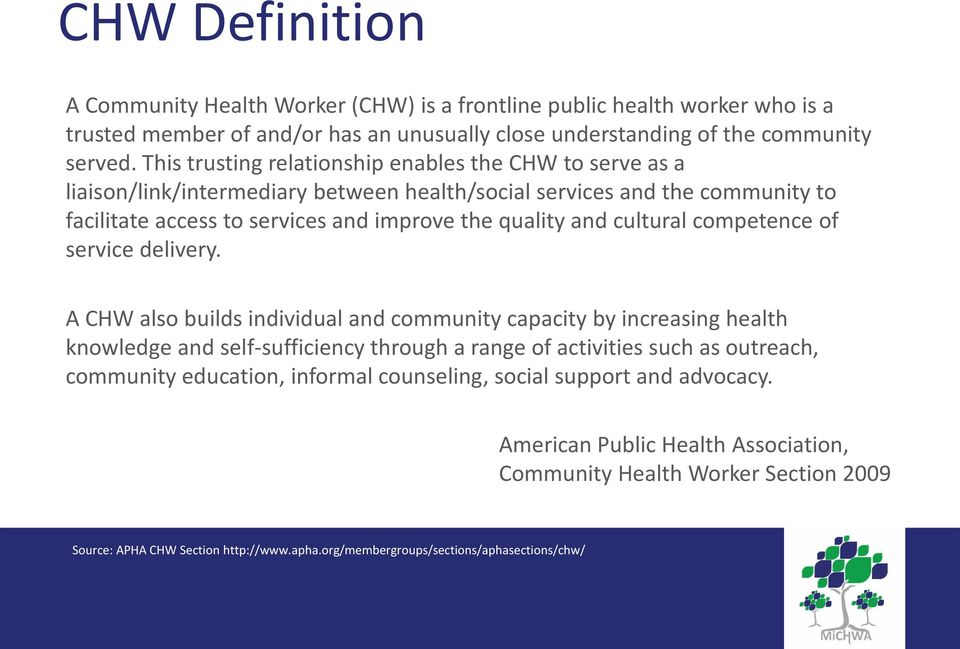 cultural competence of service delivery.