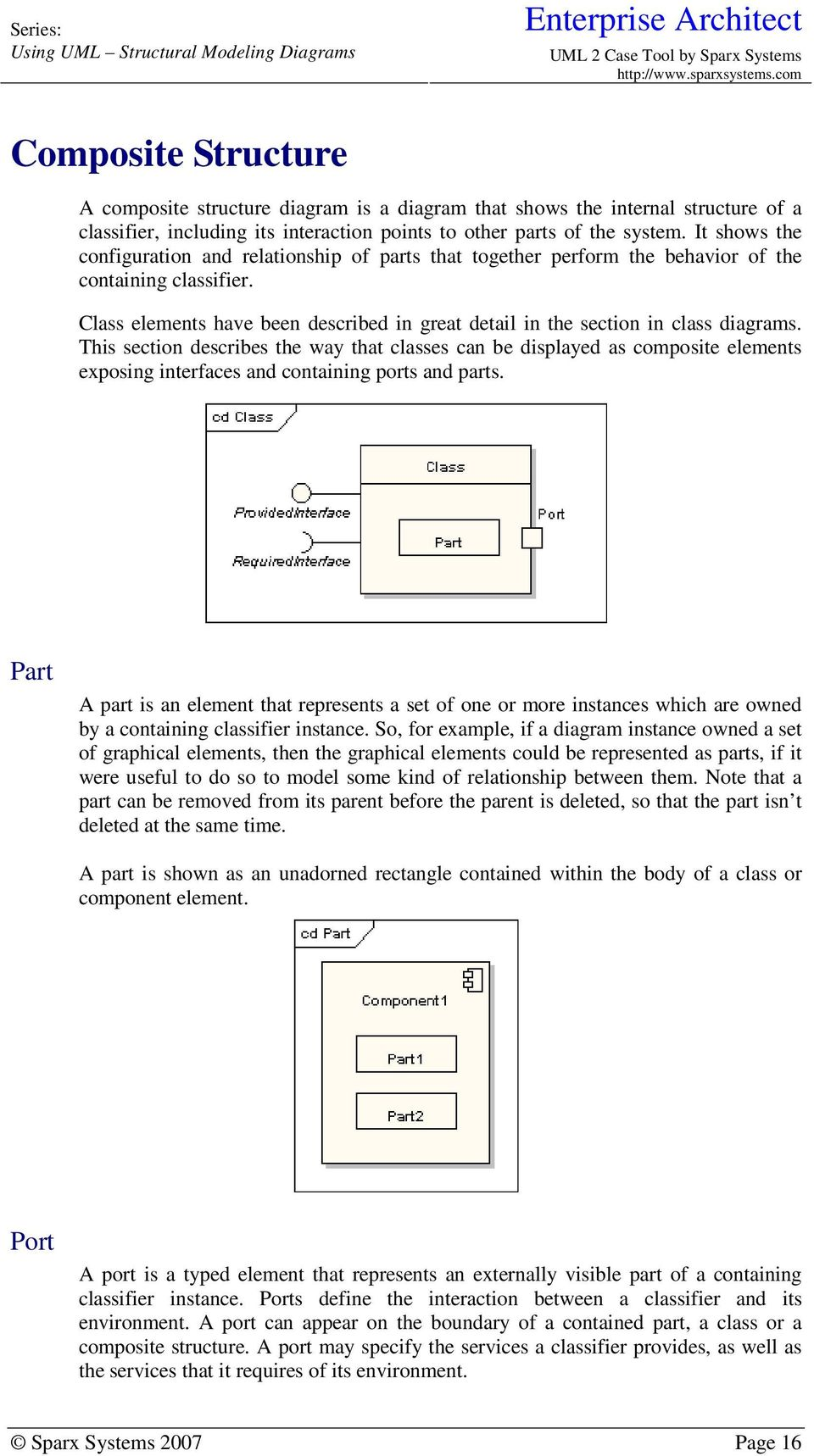 Class elements have been described in great detail in the section in class diagrams.