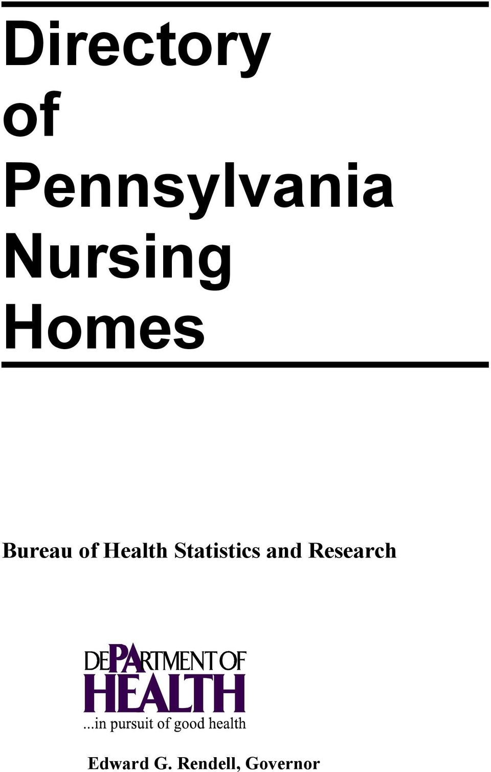 Health Statistics and