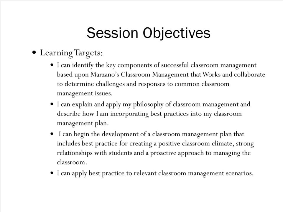 Classroom Management That Works Researched Based Strategies For