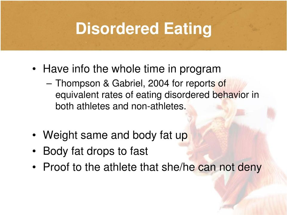 d behavior in both athletes and non-athletes.