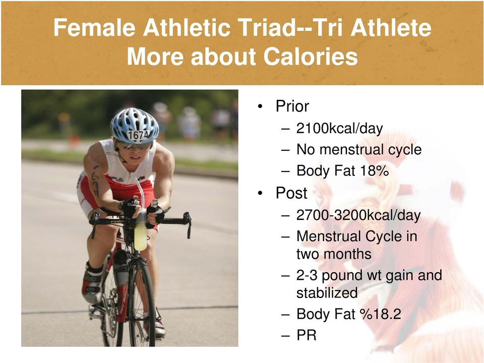 Fat 18% Post 2700-3200kcal/day Menstrual Cycle in