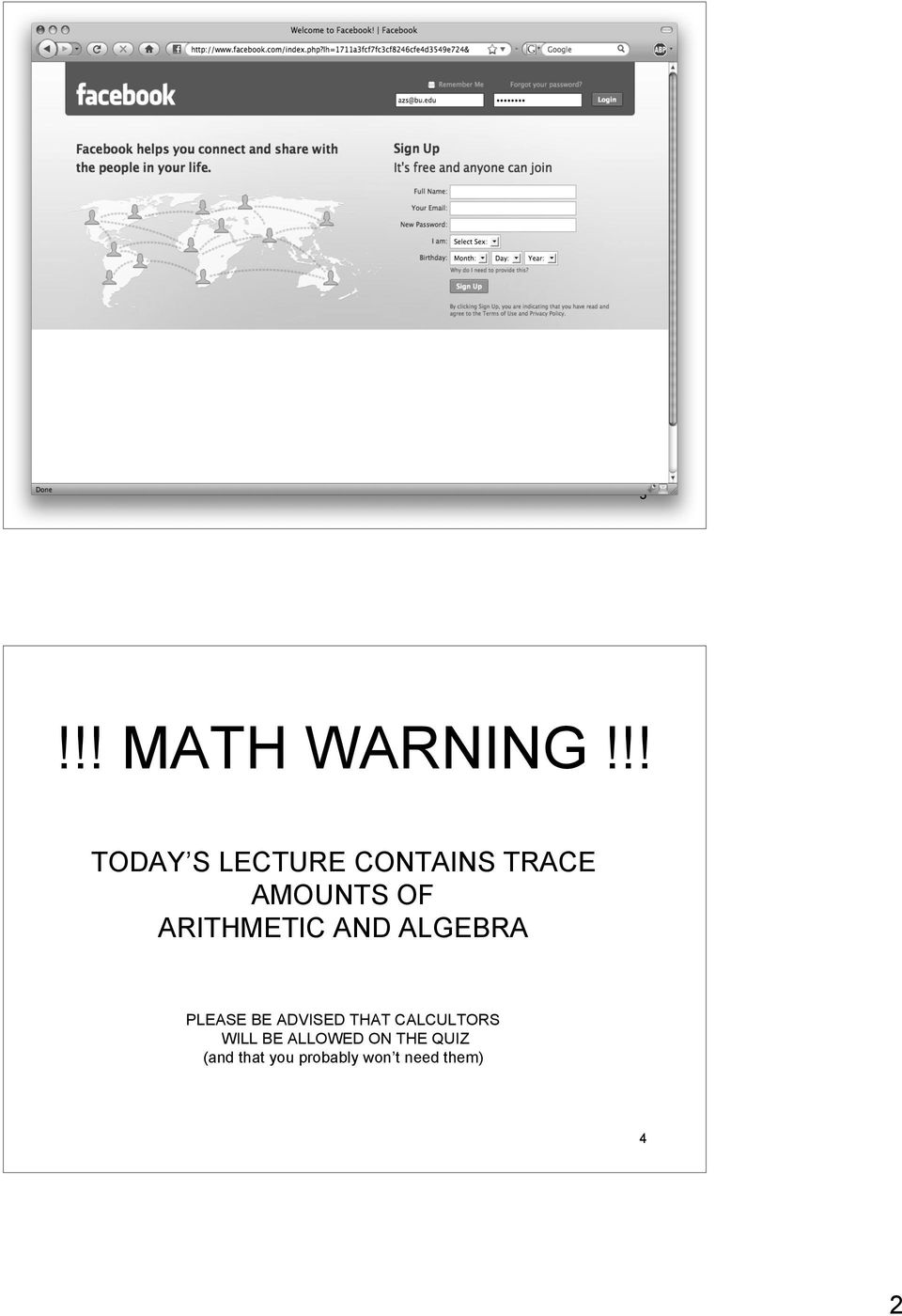 ARITHMETIC AND ALGEBRA PLEASE BE ADVISED THAT