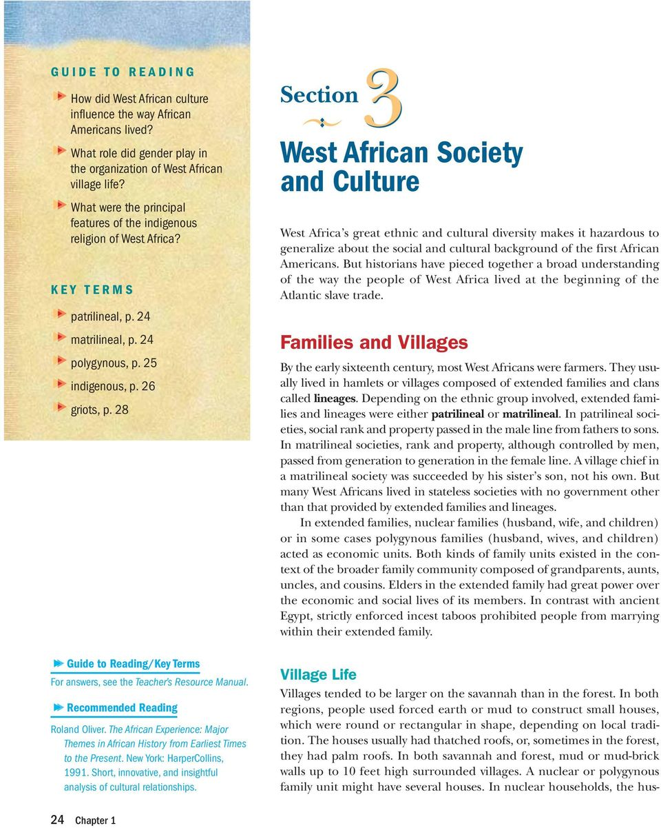 West African Society and Culture - PDF