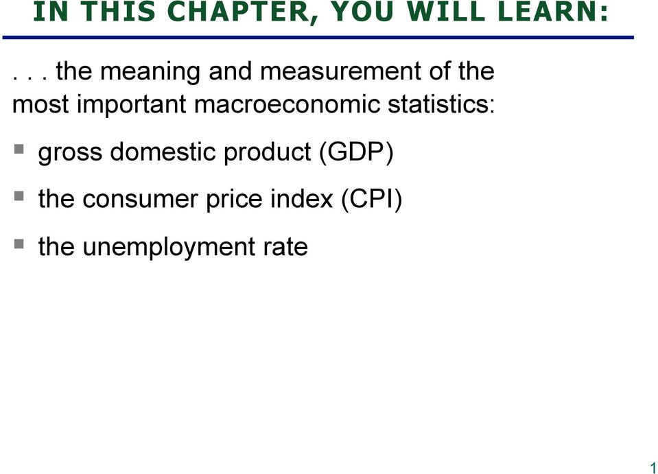 important macroeconomic statistics: gross