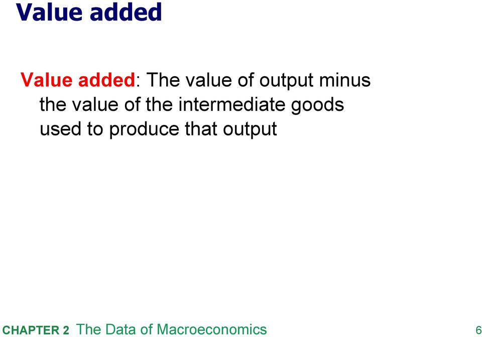 value of the intermediate