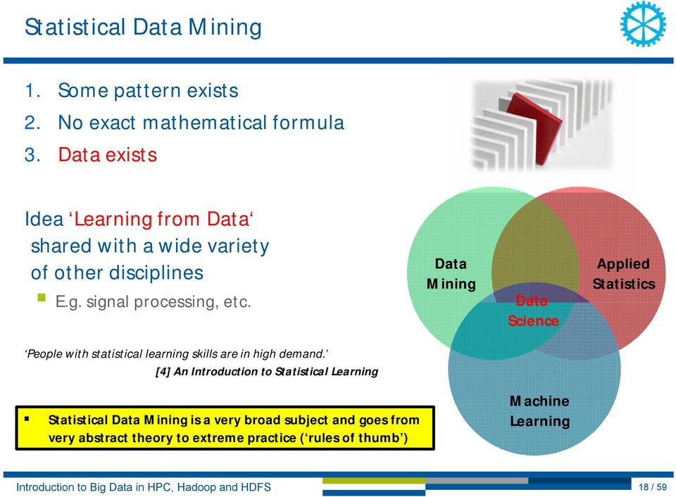 Data Mining Data Science Applied Statistics People with statistical learning skills are in high demand.