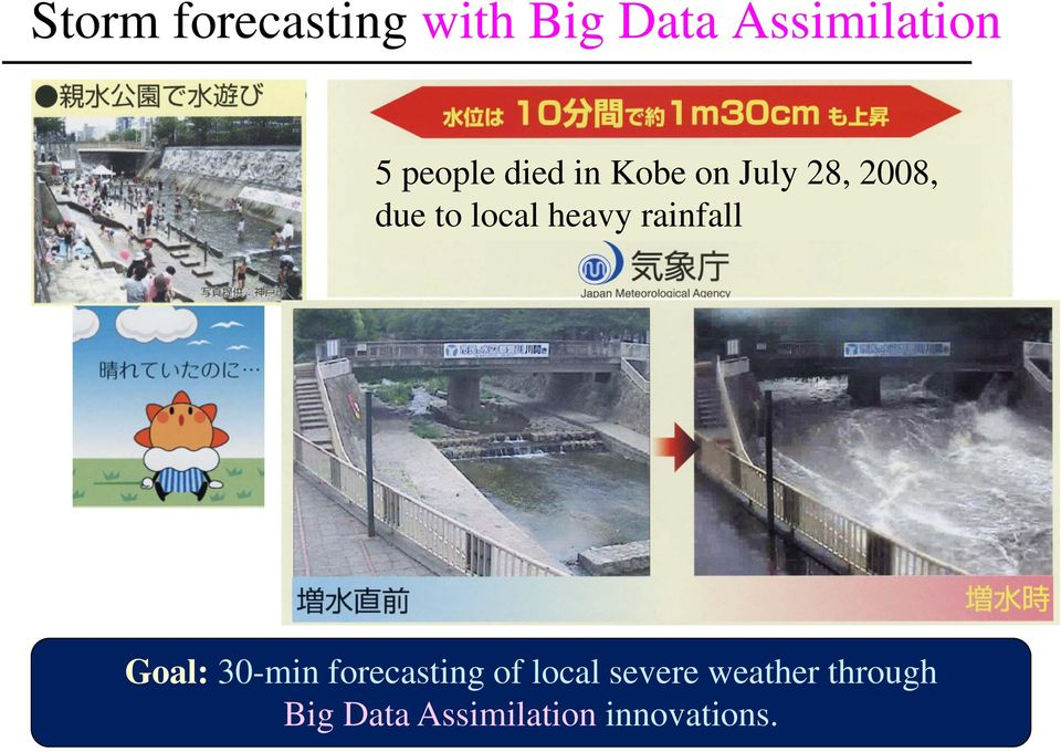 heavy rainfall Goal: 30-min forecasting of local