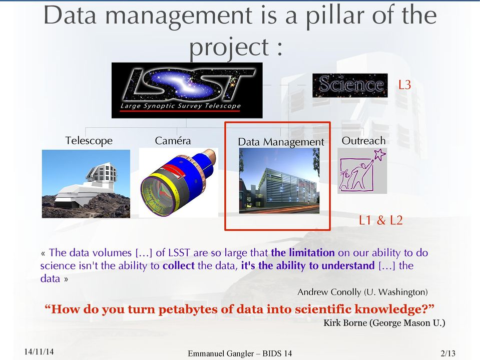to collect the data, it's the ability to understand [ ] the data» Andrew Conolly (U.