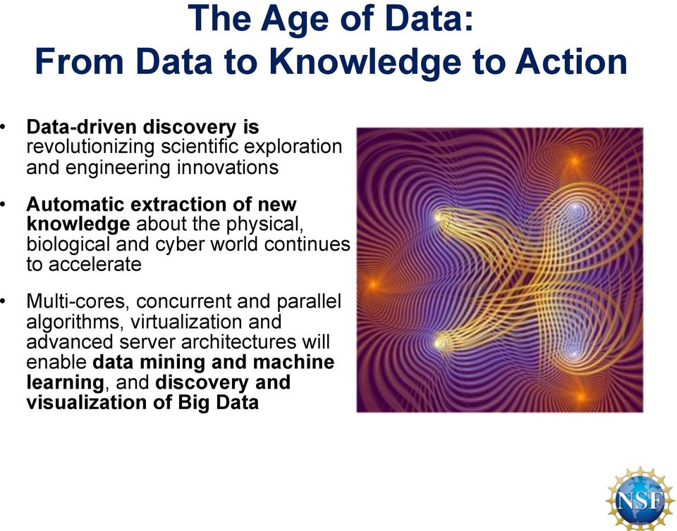 and cyber world continues to accelerate Multi-cores, concurrent and parallel algorithms, virtualization and