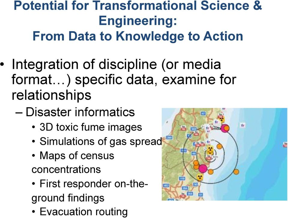 relationships Disaster informatics 3D toxic fume images Simulations of gas spread