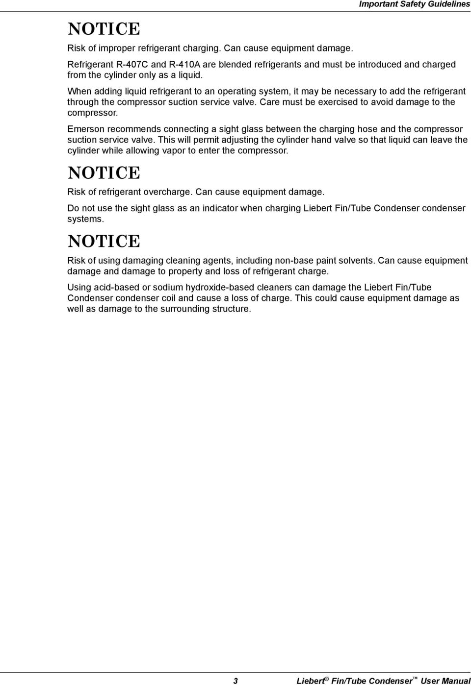 liebert air cooled fin tube condensers user manual 50 60 hz pdf when adding liquid refrigerant to an operating system it be necessary to add the