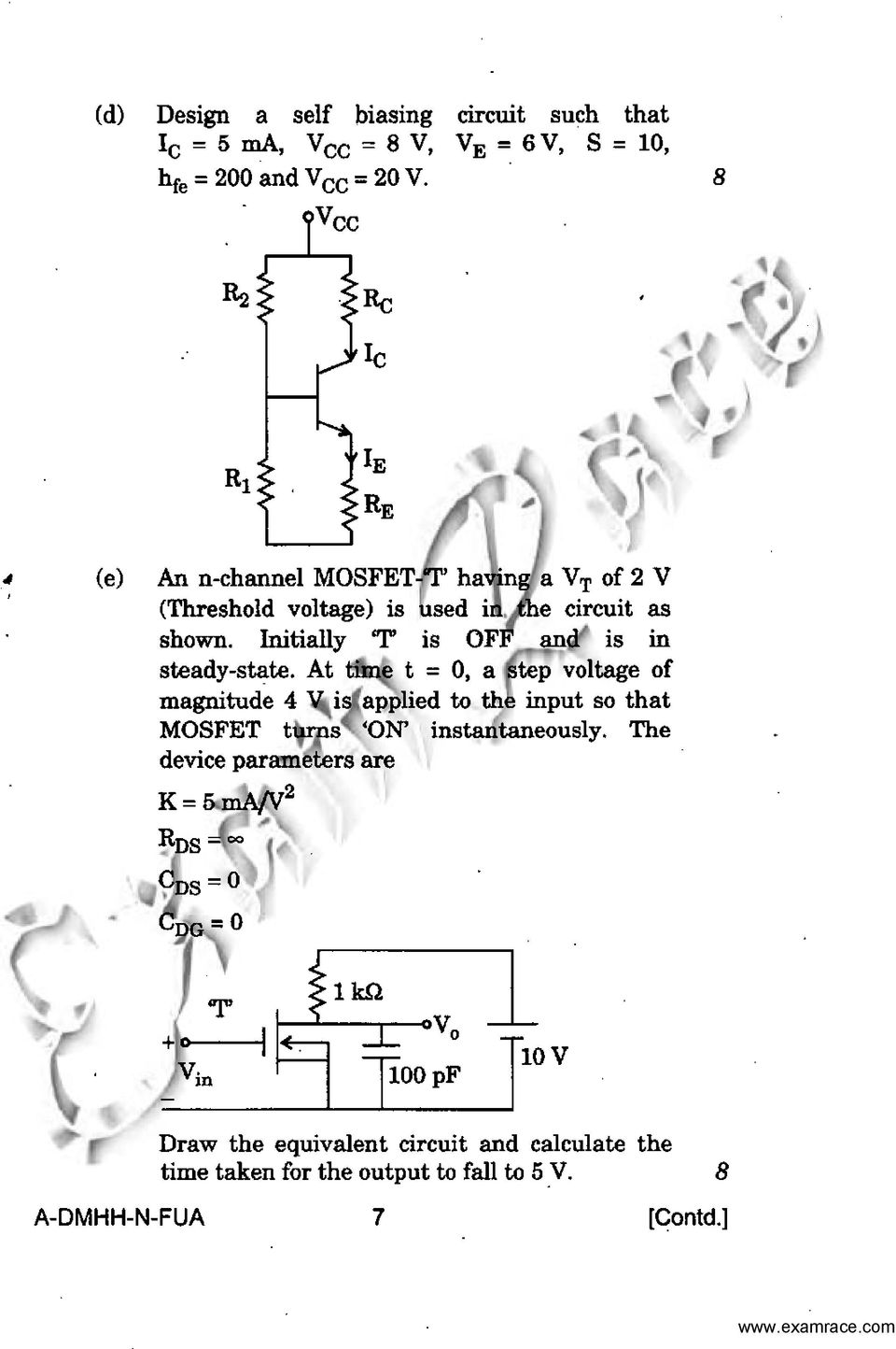 Electronics And Telecommunication Engineering Paper Conventional Threephase Rectifier Input Circuit Free Electronic Circuits 8085 Initially T Is Off In Steady State