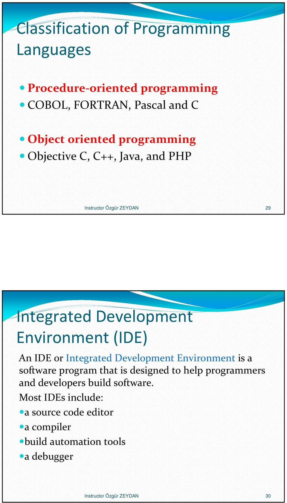 or Integrated Development Environment is a software program that is designed to help programmers and developers build