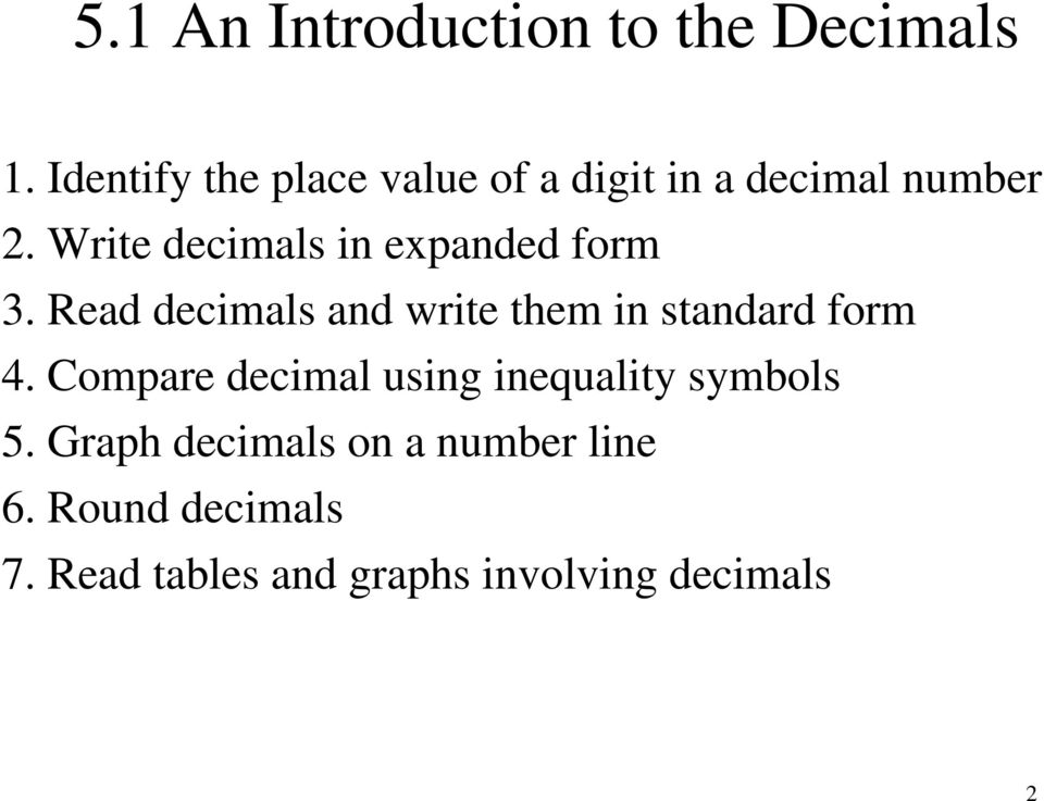 Write decimals in expanded form 3.