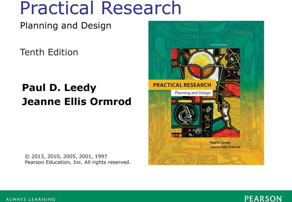 Practical Research Paul D Leedy Jeanne Ellis Ormrod Planning And Design Tenth Edition Pdf
