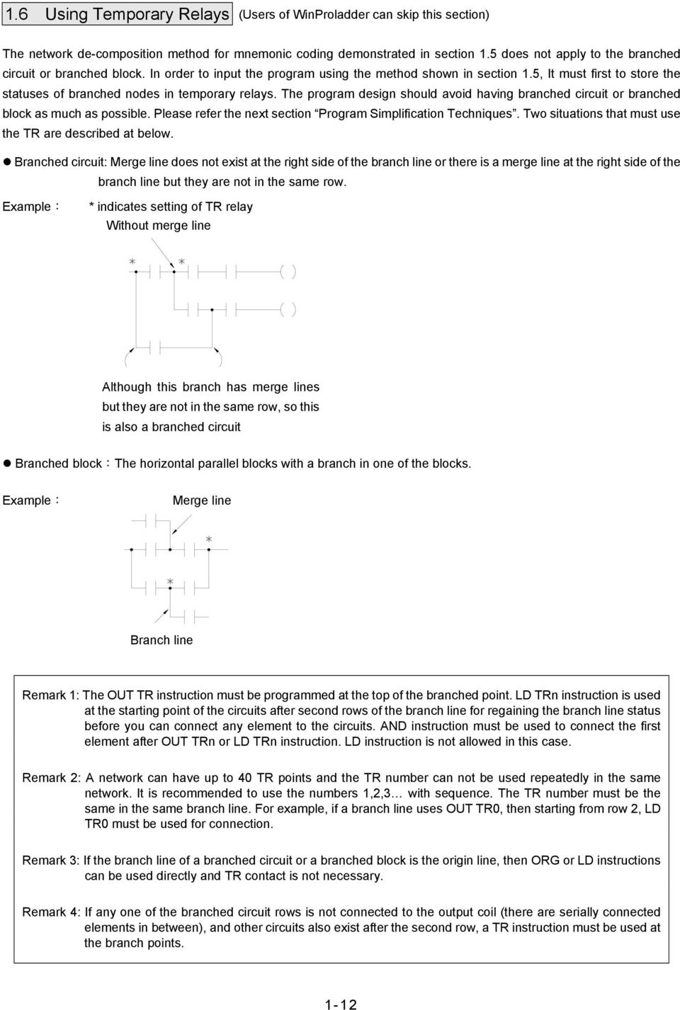 Chapter 1 Plc Ladder Diagram And The Coding Rules Of Mnemonic Pdf Latched Circuit Example 5 It Must First To Store Statuses Branched Nodes In Temporary Relays
