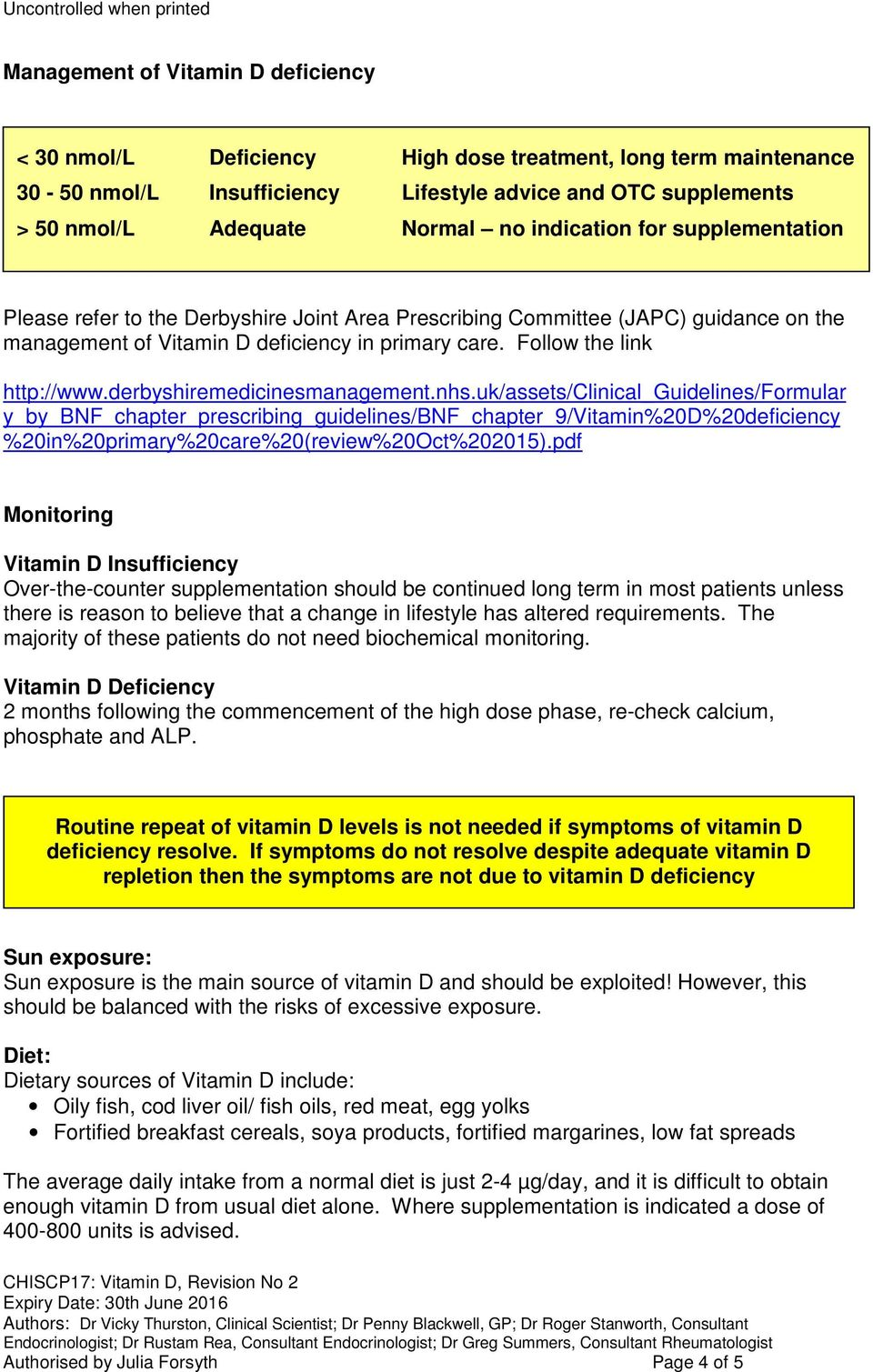 derbyshiremedicinesmanagement.nhs.uk/assets/clinical_guidelines/formular y_by_bnf_chapter_prescribing_guidelines/bnf_chapter_9/vitamin%20d%20deficiency %20in%20primary%20care%20(review%20Oct%202015).