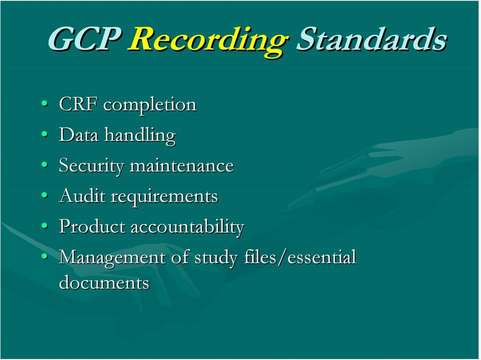 requirements Product accountability
