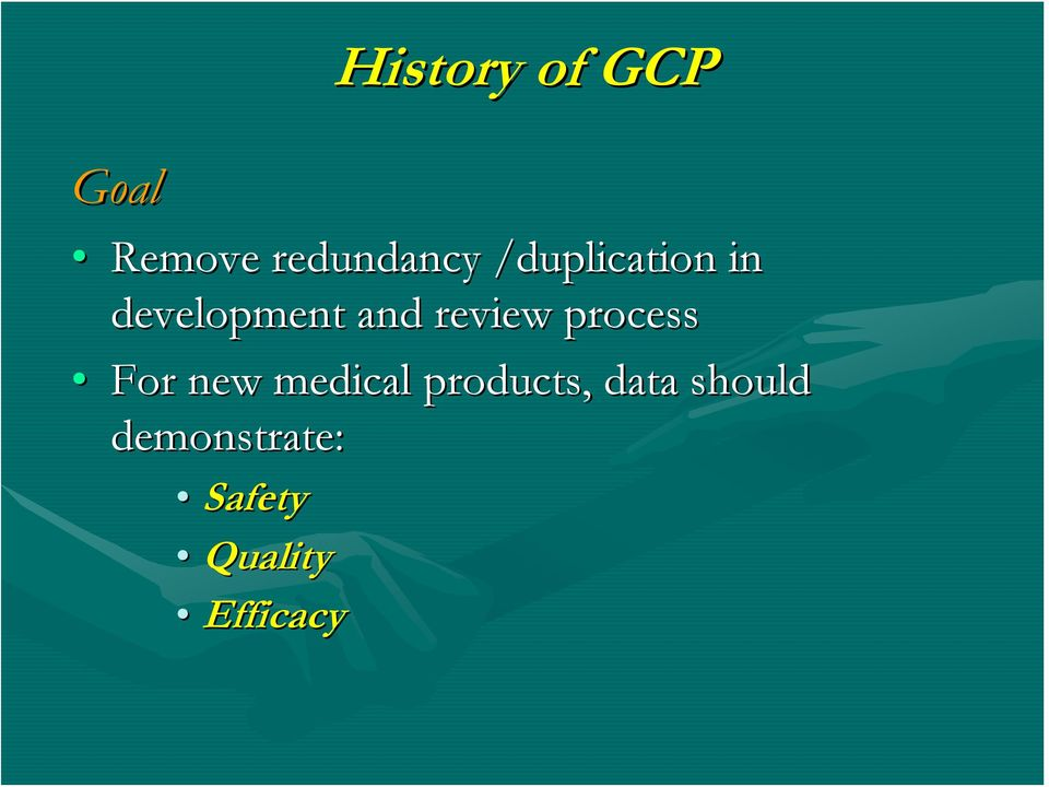 process For new medical products, data