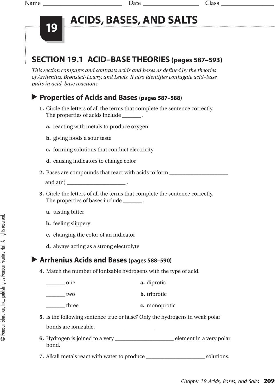 acid base reaction worksheet Termolak – Acid Base Titration Worksheet