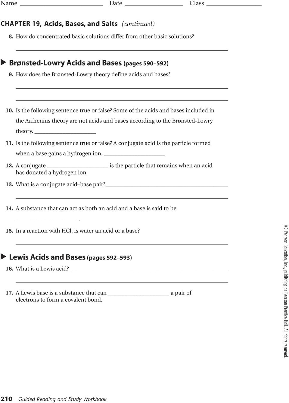 worksheet Bronsted Lowry Acids And Bases Worksheet Answers chapter 19 acids and bases homework packet 50 pts name score how does the lowry theory define lowry
