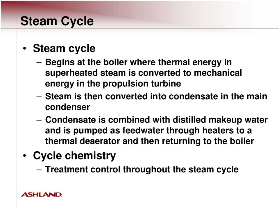 High-Pressure Steam Cycle and Boiler Water Treatment - PDF