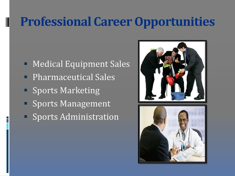 Pharmaceutical Sales Sports
