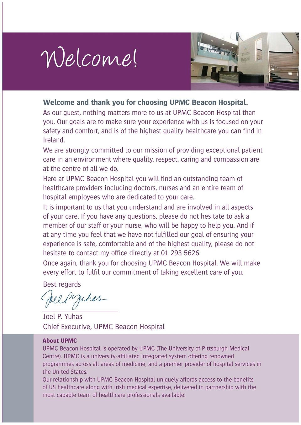 Welcome to UPMC Beacon Hospital - PDF