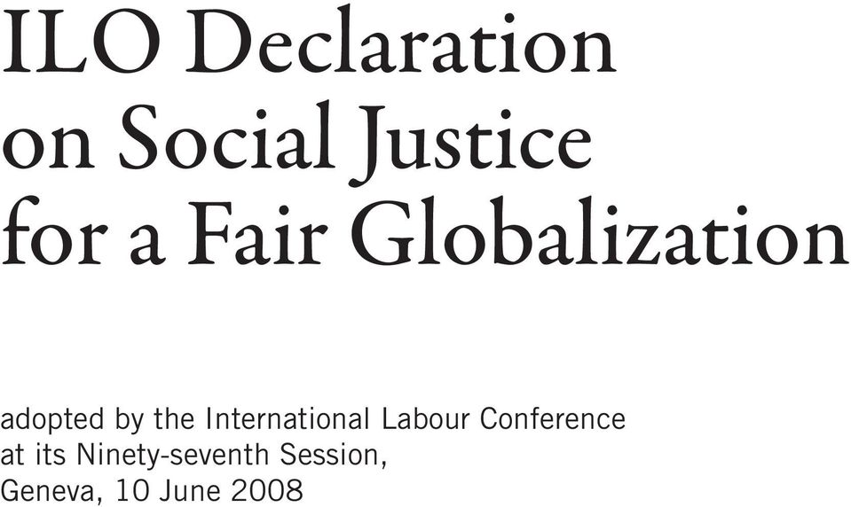 International Labour Conference at its