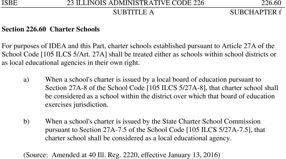 27A] shall be treated either as schools within school districts or as local educational agencies in their own right.