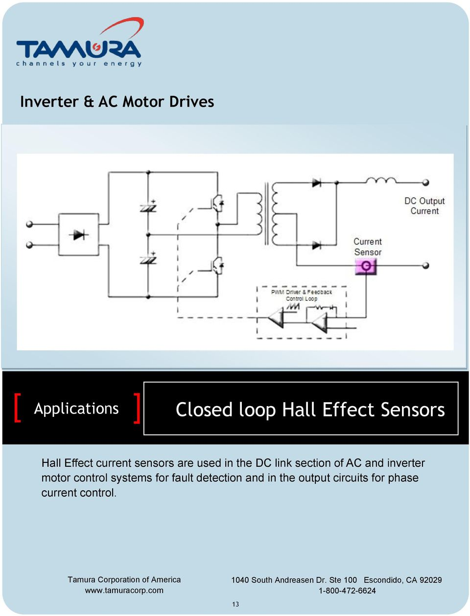and inverter motor control systems for fault detection