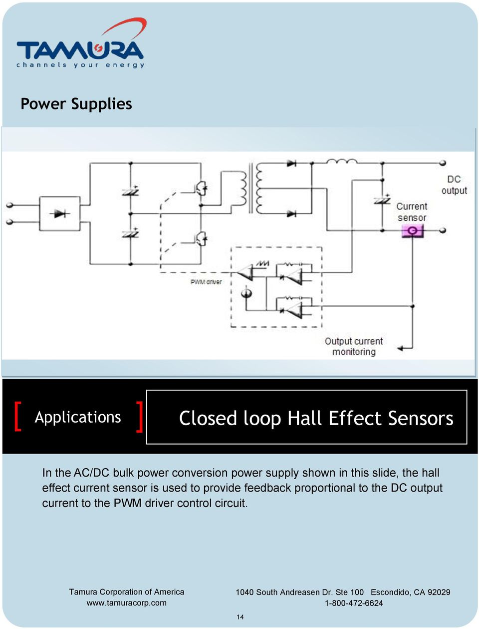 effect current sensor is used to provide feedback