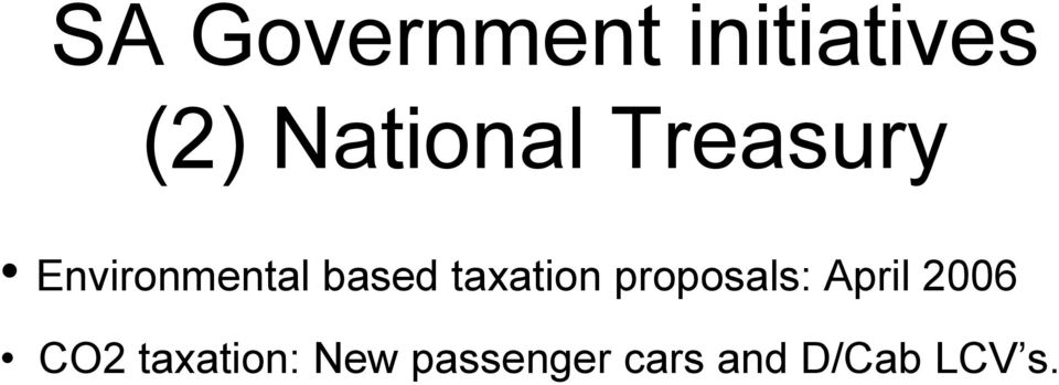 based taxation proposals: April 2006
