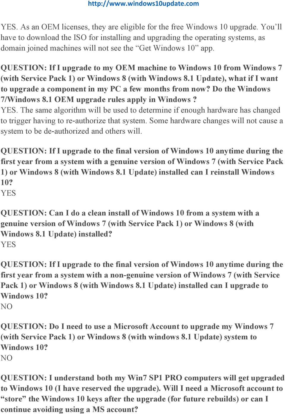 The Ultimate Windows 10 FAQ Page Compiled by - PDF