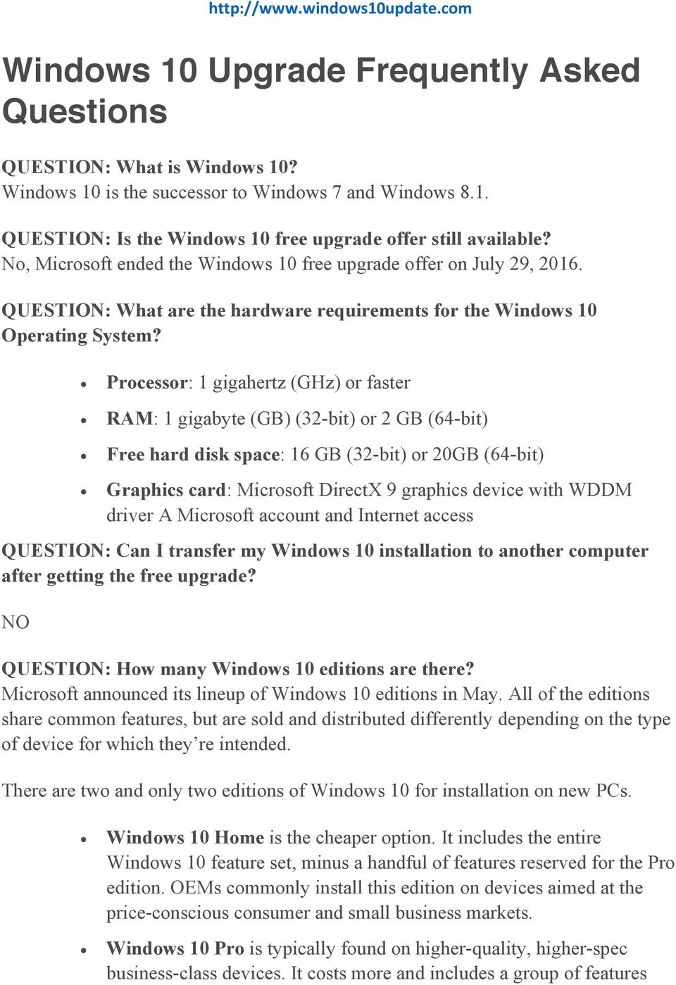 cost to upgrade from windows 7 to windows 10 pro