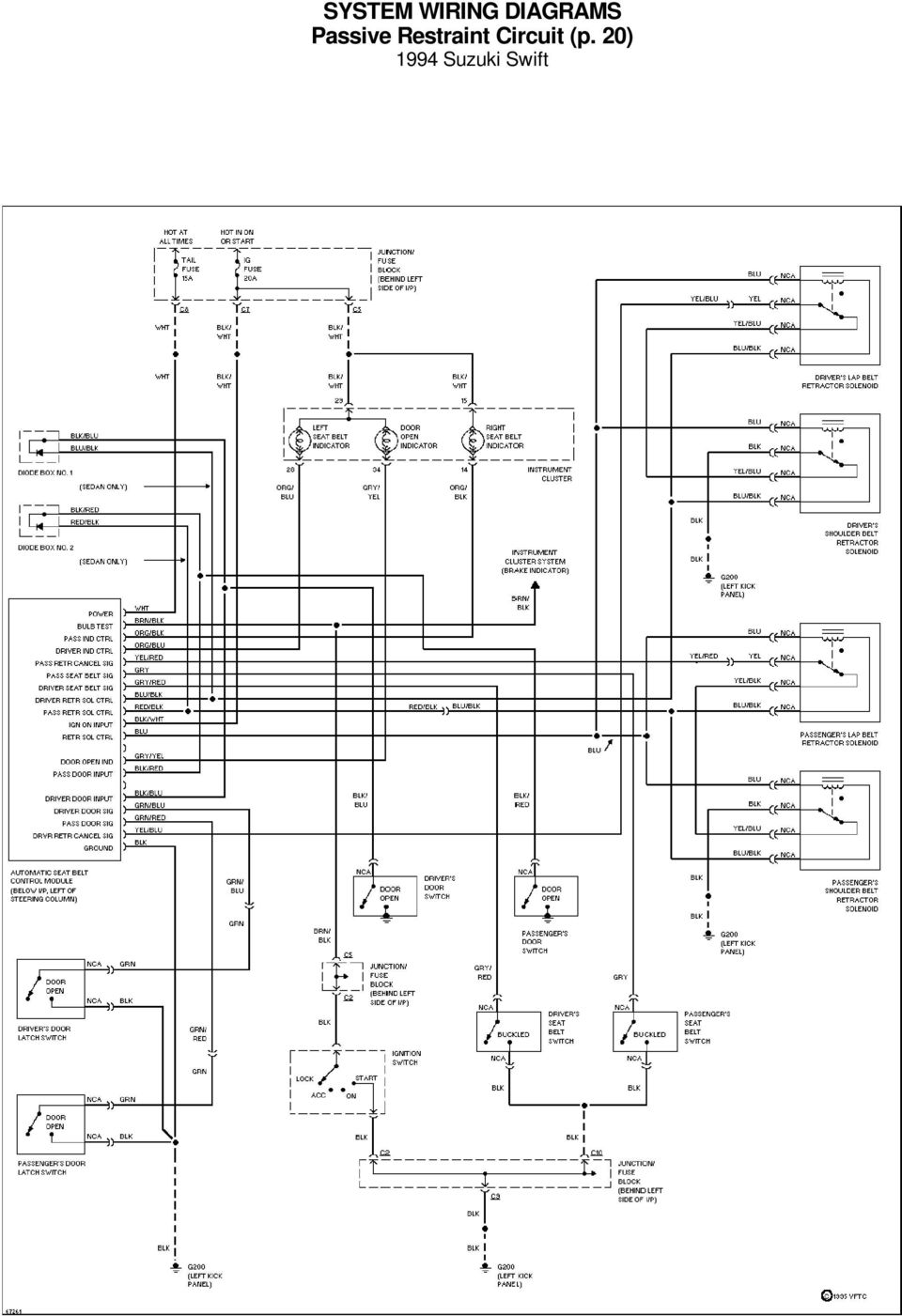 system wiring diagrams a  c circuit 1994 suzuki swift for x