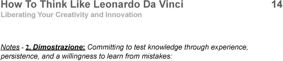 Dimostrazione: Committing to test
